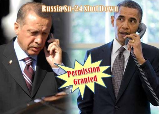 Russia-Su-24-Shot-Down-President-Erdogan-Calls-President-Obama-Permission-Granted